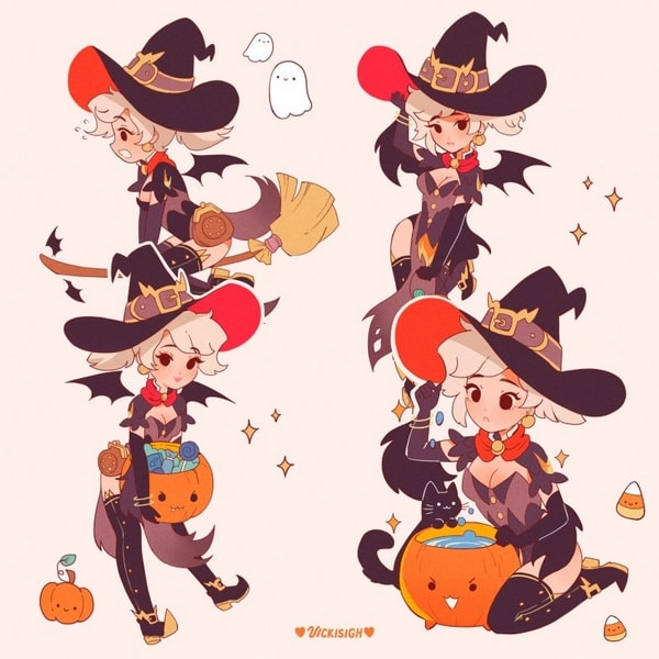 Cute Halloween Stickers And Enamel Pins