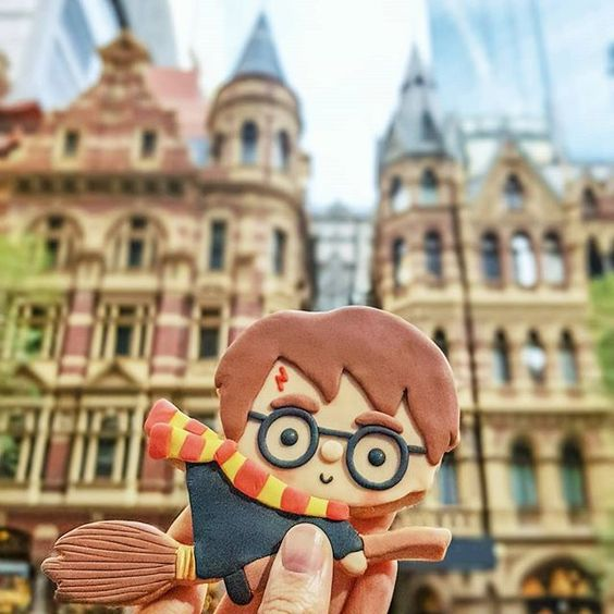 The cutest Harry Potter cookie by Vickie Liu via Instagram