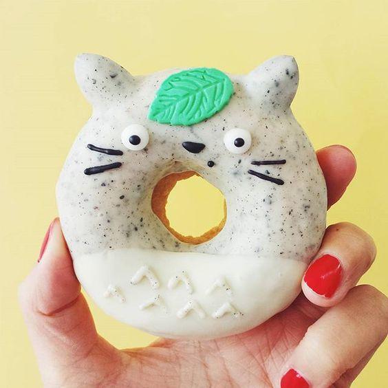 Totoro glazed donut by Vickie Liu via Instagram