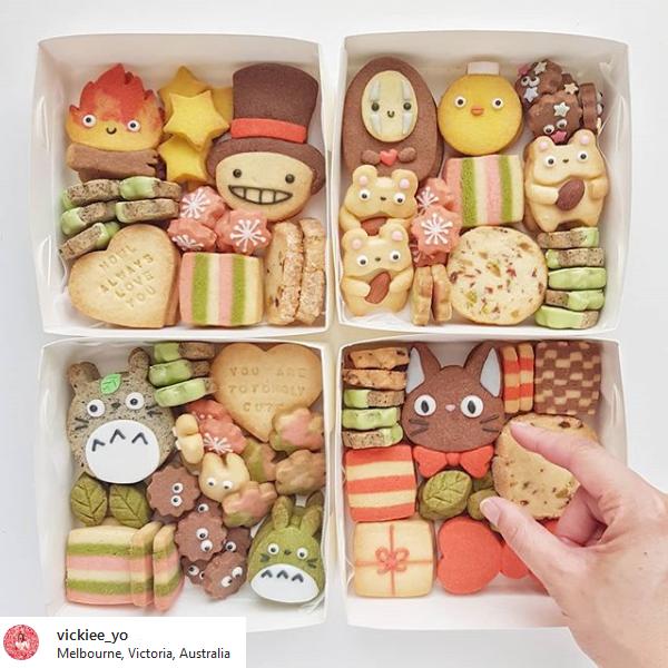 Ghibli inspied cookies by Vickie Liu via Instagram