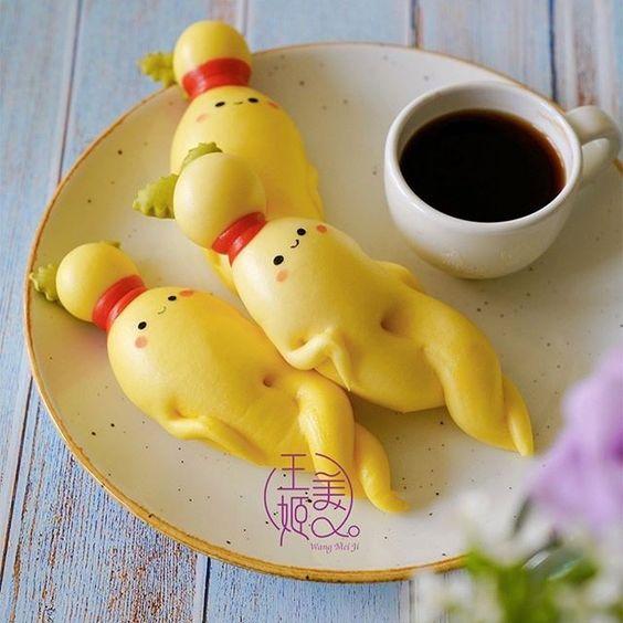 Puffy ginger steamed buns by WangMeijiQoEat via Instagram