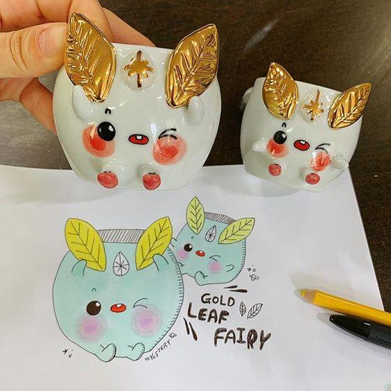 Designing Golden Leaf Fairy, by Myostery via Instagram